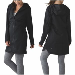 Lululemon Definitely Raining Jacket - Black - Sz 4